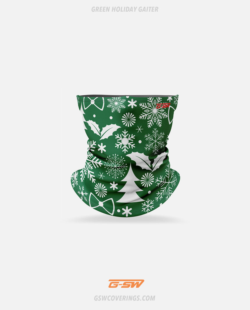 Holiday Neck Gaiter (Green) - GSW Ready-Made Face Covering - Christmas Collection