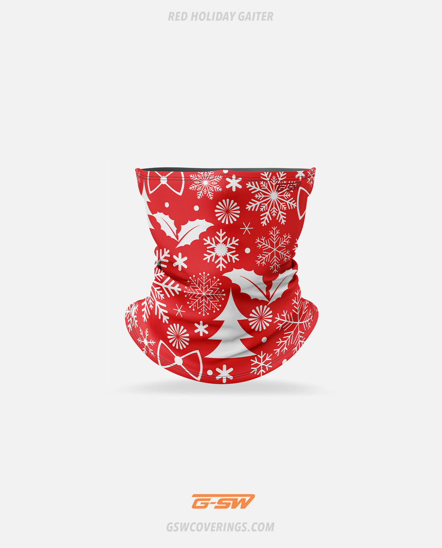 Holiday Neck Gaiter (Red) - GSW Ready-Made Face Covering - Christmas Collection