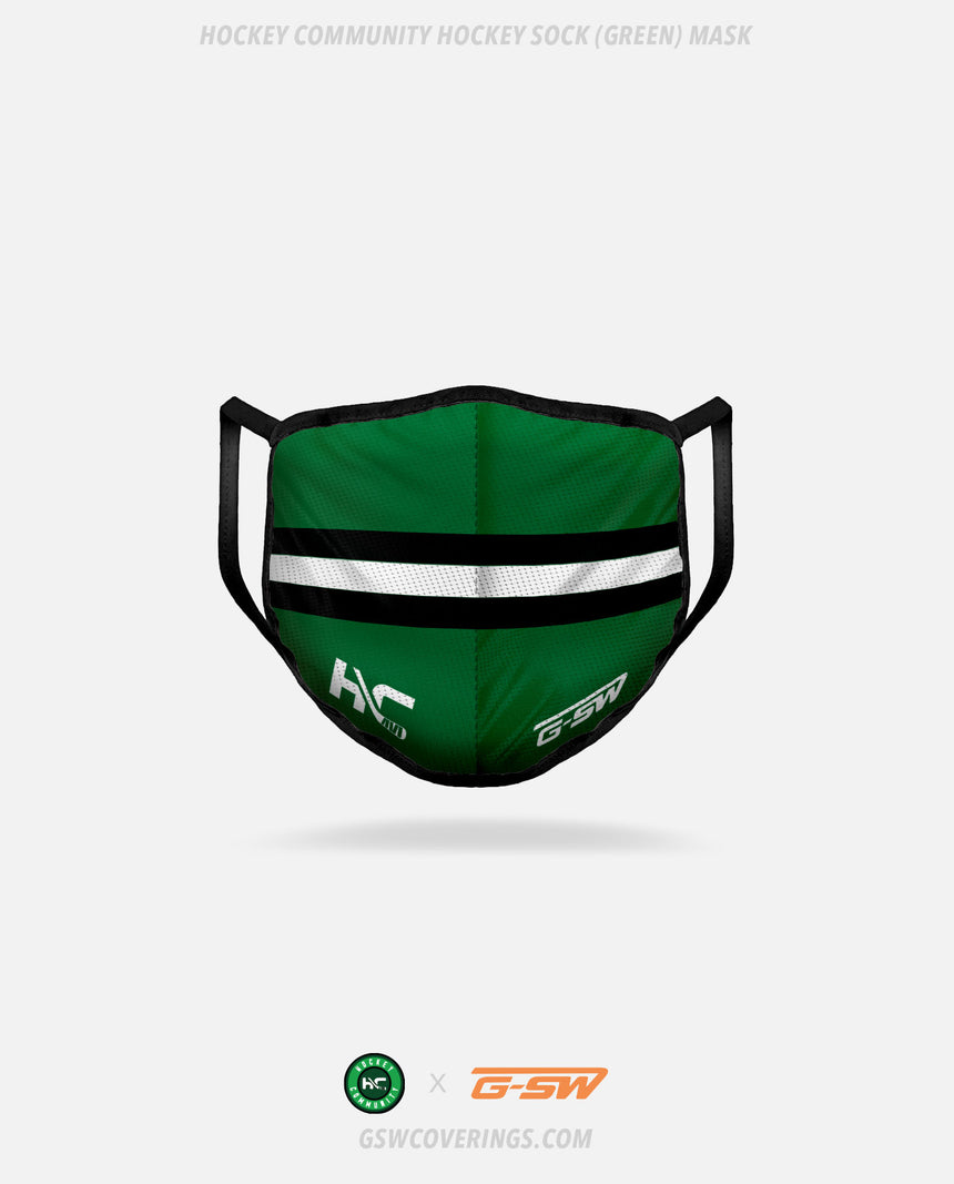 Hockey Community Hockey Sock (Green) Mask