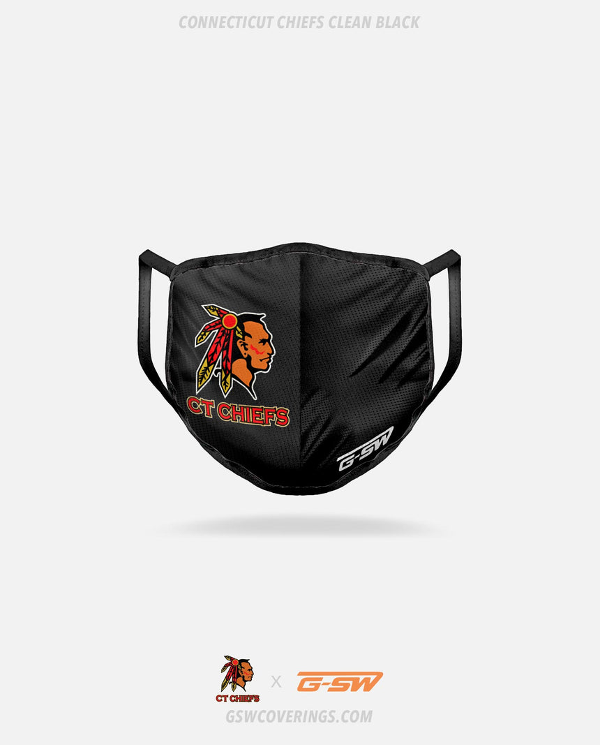 CT Chiefs Clean (Black) Mask - CT Chiefs x GSW Ready-Made Face Covering