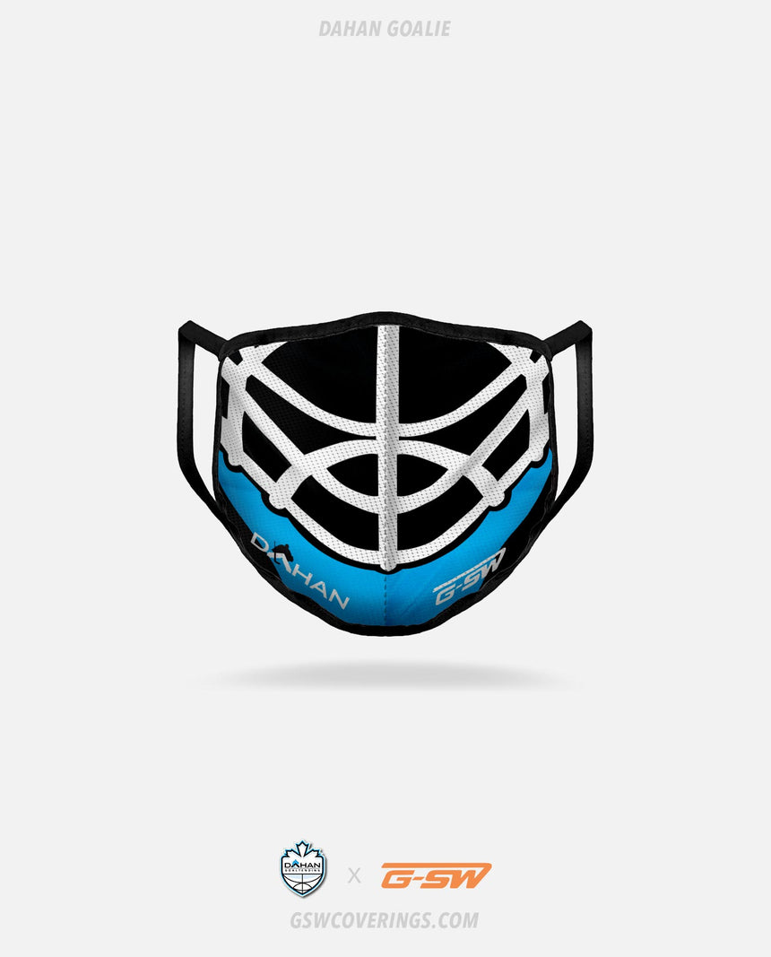 Dahan Goaltending Goalie Mask - Dahan Goaltending x GSW Ready-Made Face Covering