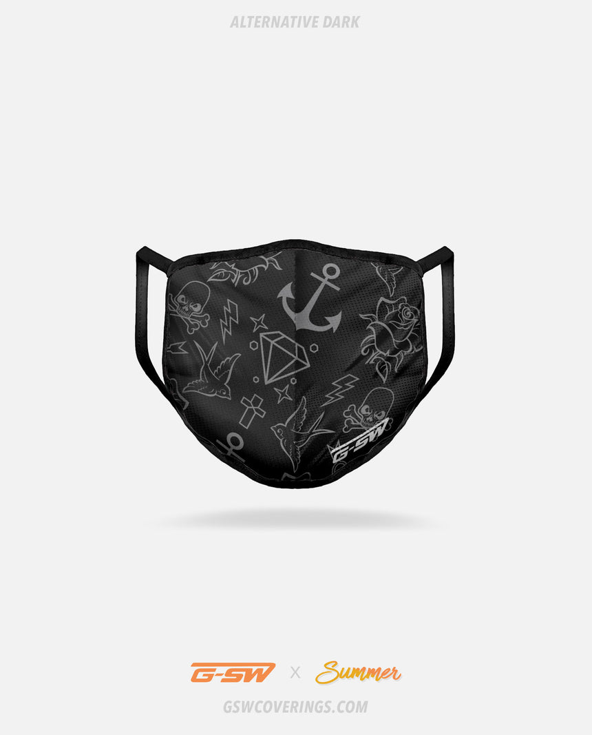 Alternative Dark Tattoo Face Mask - Summer Collection