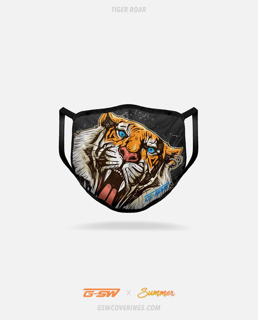Tiger Roar Tattoo Face Mask - Summer Collection