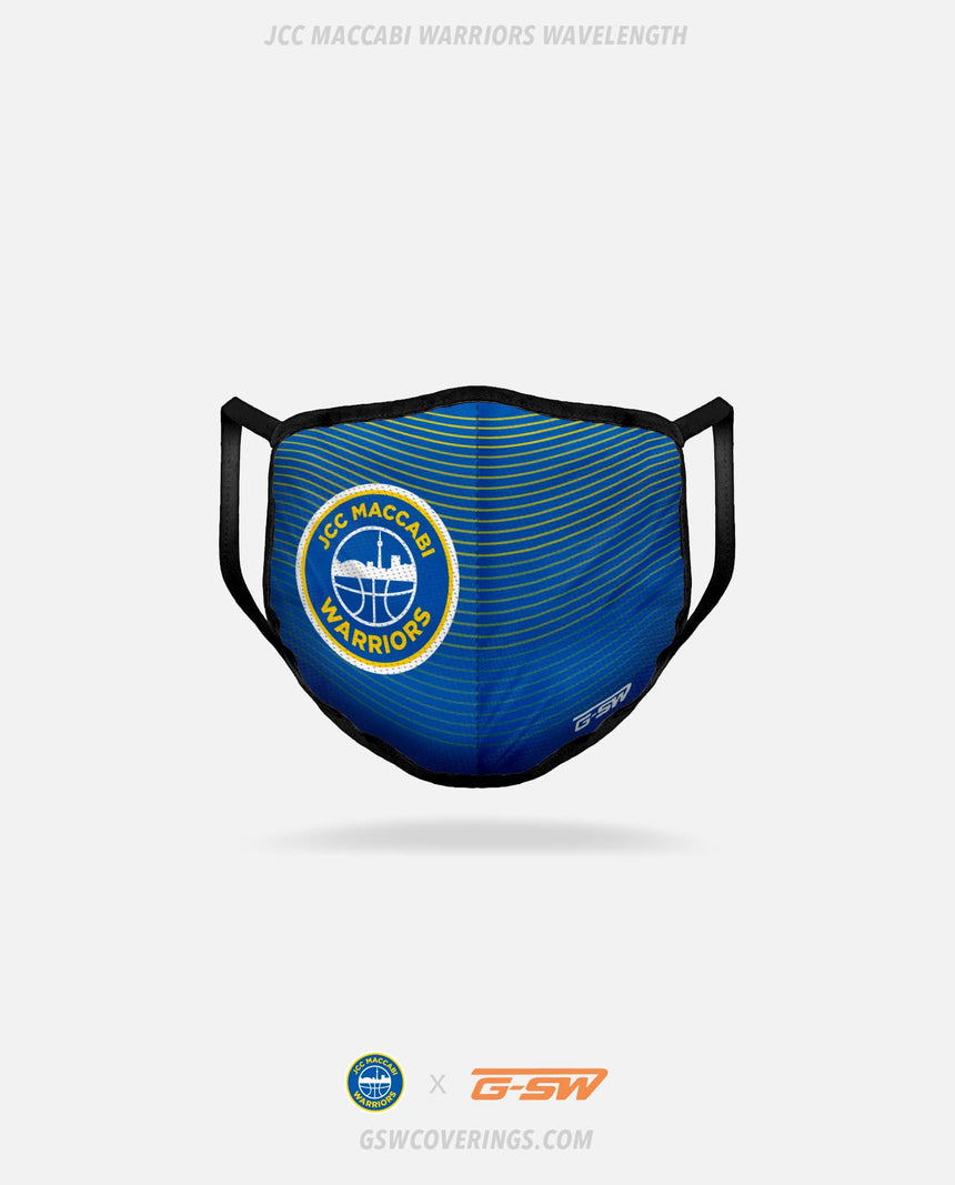 JCC Maccabi Warriors Wavelength Mask - JCC Maccabi Warriors x GSW Ready-Made Face Covering