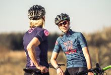 "Indlæs billede til gallerivisning ES16 Cycling Jersey Women Elite ""Bite The Dust"" blue"