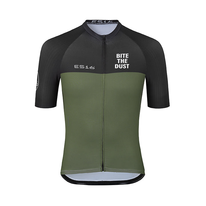 ES16 Cykeltrøje Elite Stripes -  Black green