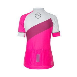 ES16 Cycling Jersey Women Elite Diagonale Pink