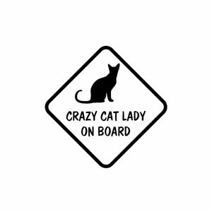 Crazy Cat Lady Car Sticker