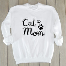 Load image into Gallery viewer, Cat Mom Sweatshirt
