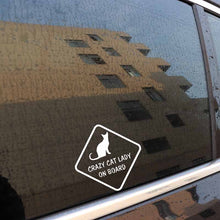 Load image into Gallery viewer, Crazy Cat Lady Car Sticker