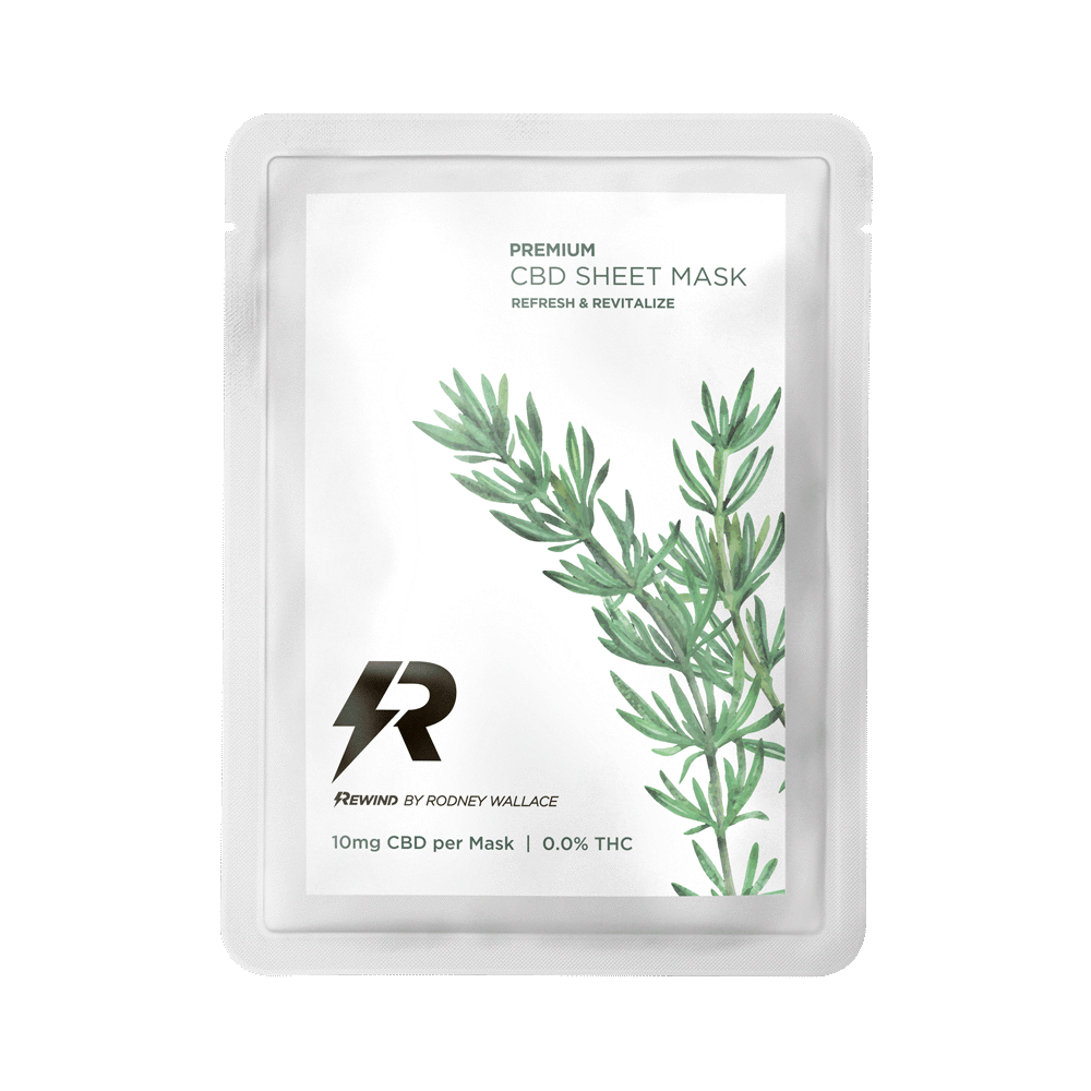 Rosemary CBD Sheet Mask.