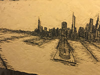 Chicago Skyline Wood Block
