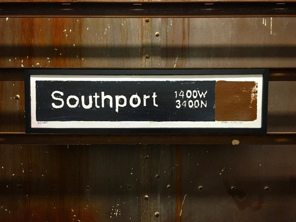 Southport Brown Line CTA Sign