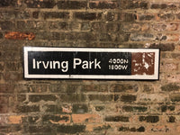 Irving Park Brown Line CTA Sign