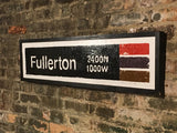 Fullerton Brown Line CTA Sign