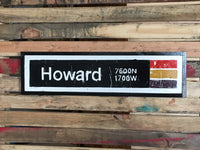 Howard Red Line CTA Sign