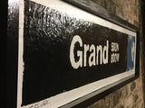 Grand Ave Blue Line CTA Sign