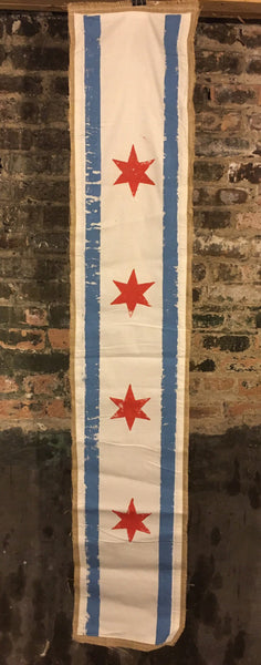 Chicago Flag Table Runner, Table Runner, City of Chicago Flag, Home Decor, table linens, Dining Table Accessories, Chicago