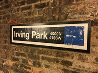 Irving Park Blue Line CTA Sign