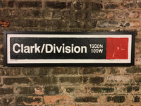 Clark/Division Red Line CTA Sign