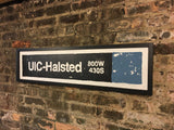 UIC-Halsted Blue Line CTA Sign