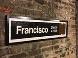 Francisco Brown Line CTA Sign