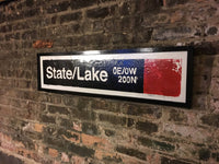 State/Lake Red Line CTA Sign