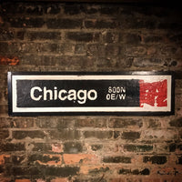 Chicago Red Line CTA Sign