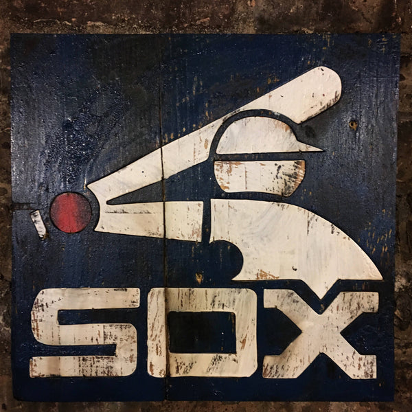 Wooden Chicago White Sox Sign