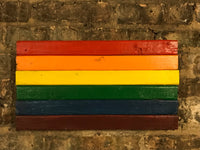 Pride Flag, Chicago Pride, Equality, City of Chicago, Chicago Art, Chicago, Vintage Sign, Vintage Chicago, Chicago Sign, wooden signs, out