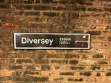 Diversey Brown Line CTA Sign