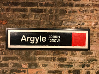 Argyle Red Line CTA Sign