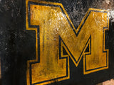 Michigan, The Wolverines, michigan, College, Vintage Sign, Vintage Michigan, Michigan Sign, wooden signs, Football, wolverines, MI