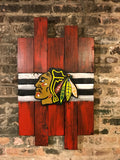 Chicago Blackhawks, City of Chicago, Blackhawks, Chicago, Vintage Sign, Vintage Chicago, Chicago Sign, wooden signs, Chitown, hockey