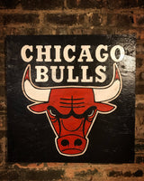 Chicago Bulls, Bulls, City of Chicago, Chicago Art, Chicago, Vintage Sign, Vintage Chicago, Chicago Sign, wooden signs, Chitown, Second City