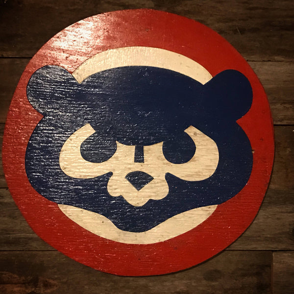 Wooden Chicago Cubs Sign