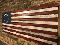 Wooden American Colonial Flag