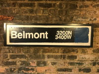 Belmont Blue Line CTA Sign