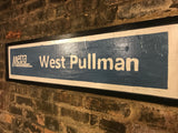 West Pullman Metra Sign