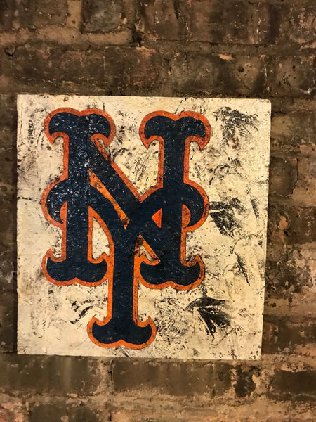 Wooden New York Mets Sign