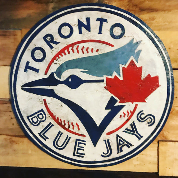 Toronto Blue Jays Sign, City of Toronto, the Blue Jays, Vintage Sign, Vintage Blue Jays Sign, wooden signs, Baseball