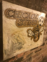 Chicago Sting, soccer, City of Chicago, Chicago Art, Chicago, Vintage Sign, Vintage Chicago, Chicago Sign, wooden signs, Chitown, Second Cit
