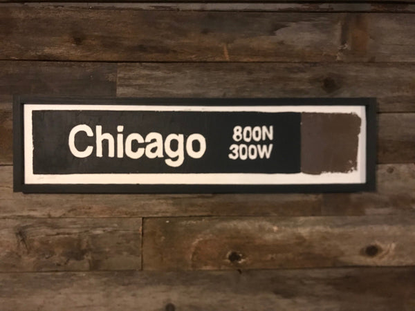 Chicago Brown Line CTA Sign
