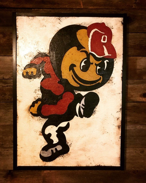 The Ohio State Wooden Brutus Sign