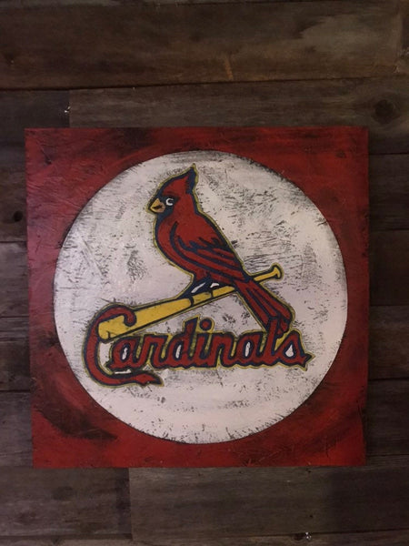 St Louis Cardnals, St Louis Cards, St. Louis Art, St. Louis , Cardinal Baseball, Vintage St. Louis , St. Louis Sign, wooden signs, big Muddy