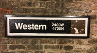 Western Brown Line CTA Sign