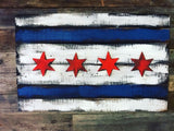 Chicago Flag, City of Chicago, Chicago Art, Chicago, Vintage Sign, Vintage Chicago, Chicago Sign, wooden signs, Chitown, Second City, Art