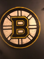 Wooden Boston Bruins Sign