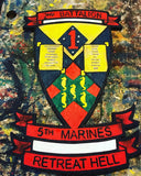 Marine Corp 2nd Battalion Crest, Marine Corp Sign, Marine Corp Art,  Military Sign, Marines, 2nd Battalion Sign