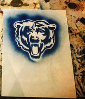 Chicago Bears Blue Graffiti Art